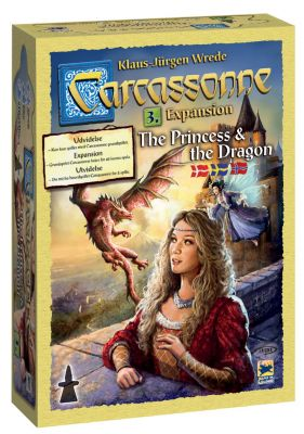 Carcassonne 3. udvidelse: The Princess & The Dragon - på dansk