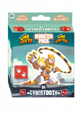 King of Tokyo New York Cybertooth Monster Pack